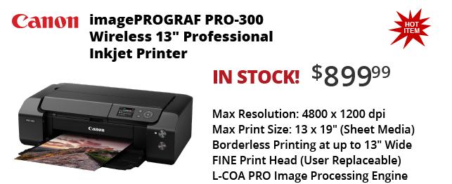Canon Pro-300 Printers