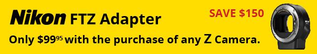Nikon FTZ Adapter Savings