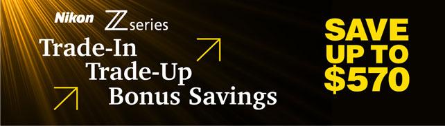 Nikon Trade-In Trade-Up Savings