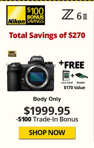 Nikon Z6 II Body with Free Items and TITU Savings