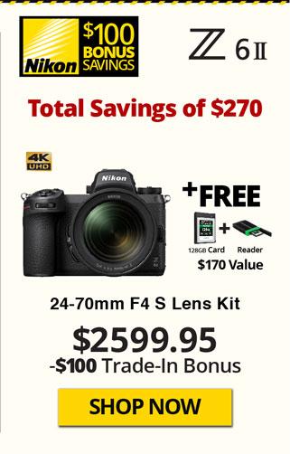 Nikon Z6 II Kit with Free Items and TITU Savings