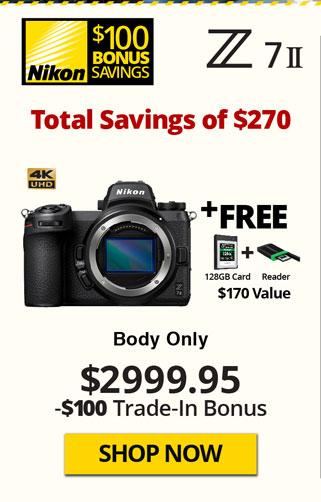 Nikon Z7 II Body with Free Items and TITU Savings