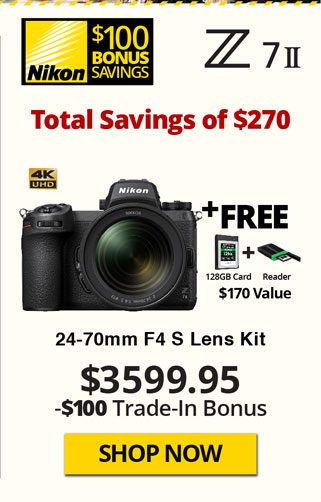 Nikon Z7 II Kit with Free Items and TITU Savings