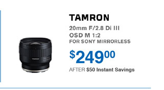 Tamron Savings