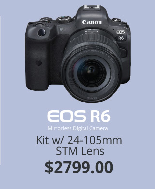 Canon EOS R6 with STM