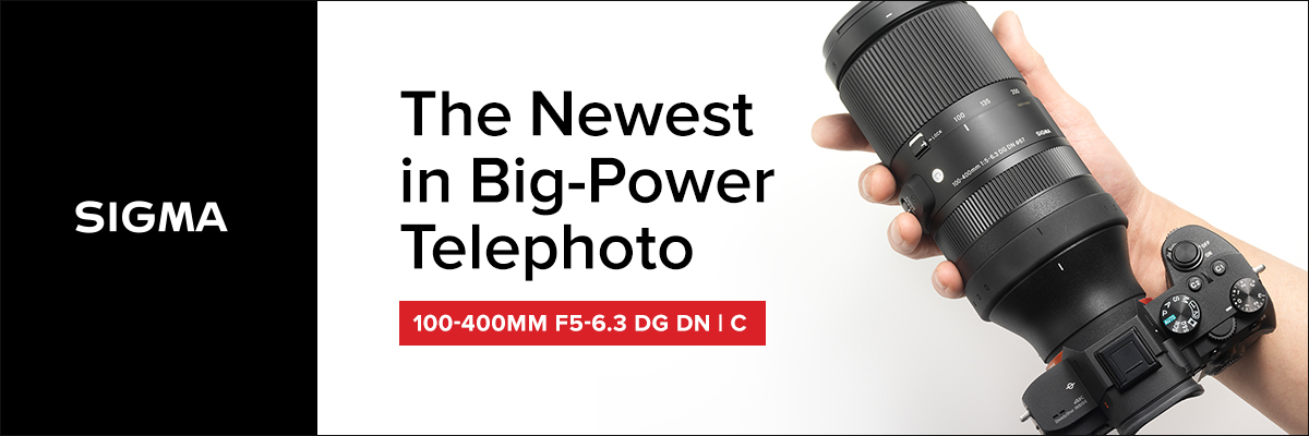 New Sigma 100-400mm Lens! Pre-order at Hunt's Today.