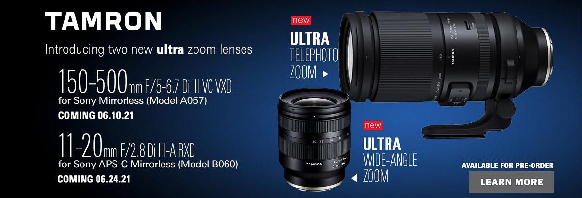 New Tamron E-mount lenses!