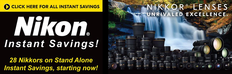 Nikon Instant Savings!