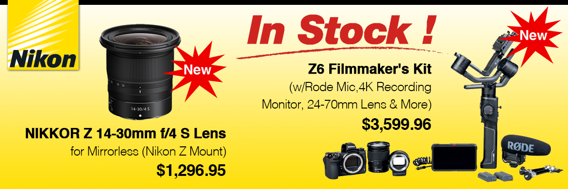 Nikon pre-order Z 14-30mm and Z6 Filmmaker's Kit