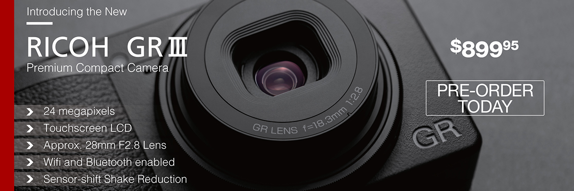 Ricoh Announces the New GRIII Digital Camera Available for Pre-Order Today