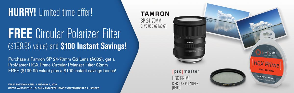 Tamron 24-70mm G2 Lens Bundles!