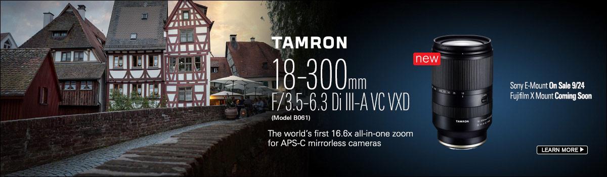 Tamron Lens Release 18-300mm F/3.5-6.3 Di III-A VC VXD Lens